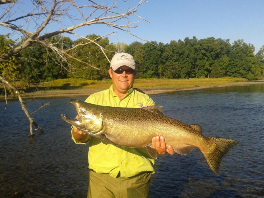 Salmon steelhead and brown trout fishing in new york state for Salmon river ny fishing map