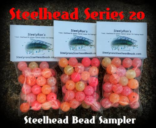 Steelhead series 20 100pc 10mm steelhead bead sampler for Bead fishing for steelhead